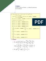 Cálculo práctico de límites