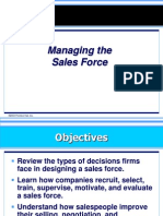 5 Managing the Sales Force