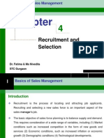 Recruitment and Selection -Sales Management