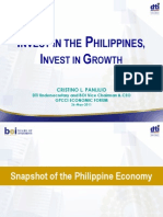 Cristino L. PANLILIO Invest in the Philippines Invest in Growth