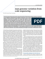 A Map of Human Genome Variation From Population Scale Sequencing