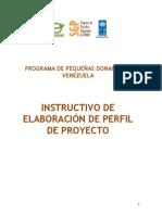 Instructivo de Elaboracion de Perfil de Proyecto