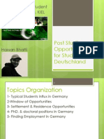 Post Studies Opportunities for Students in Deutschland