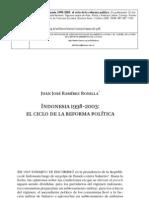 Indonesia 1998-2003 - el ciclo de la reforma política