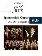 Corporate Sponsorship Opportunities 2013-2014