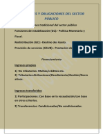 FUNCIONES Y OBLIGACIONES DEL SECTOR PÚBLICO