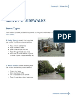 PBRI Revised Pedestrian Audit Tool--Sidewalks