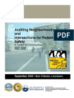 PBRI Auditing Neighborhoods Streets and Intersections for Pedestrian Safety