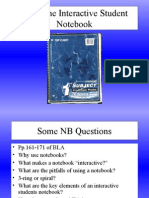 Using the Interactive Student Notebook