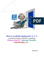 How to Avoid the Spying of EEUU & Other Practical Solutions Computing (Protect Pc, Interner Security AutoHackin