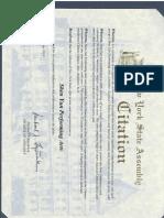 Assemblyman Fitzpatrick Shen Yun Citation