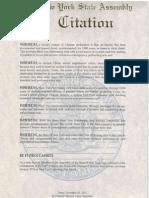 Assemblyman Kearns Shen Yun Citation