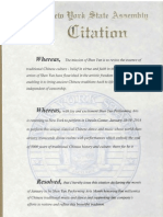 Assemblyman Lentol Shen Yun Citation