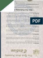 Assemblyman McDonald III Shen Yun Citation