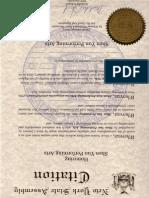 Assemblywoman Schimel Shen Yun Citation