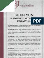 Senator Savino Shen Yun Proclamation Page 1