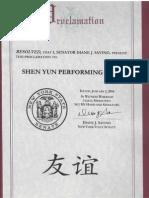 Senator Savino Shen Yun Proclamation Page 2