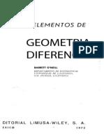 Elementos de Geometria Diferencial Barrett o´neill