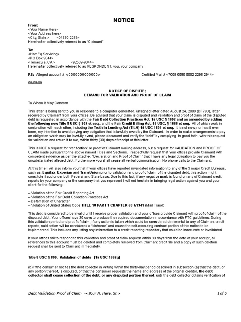 Debt Validation Letter To Original Creditor from imgv2-2-f.scribdassets.com