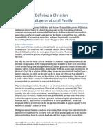 defining a christian multigenerational family