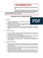 Proposed Business Meeting Guidelines 2014 Updated