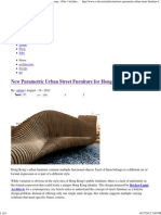 Parametric Urban Street Furniture-Bench