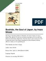 Bushido, The Soul of Japan, By Inazo