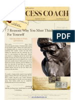 Success Coach - 7 Reasons You Must Think for Yourself