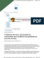 Odisnei Galarraga - CMMI para Serviços