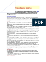 Dyslexia and Exams