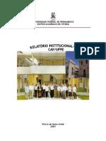 Relatorio Cav 2008 UFPE