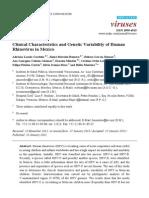 Caracteristicas Clinicas RV Variabilidad Genetica