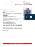 Transfomateurs de Distribution MT BT