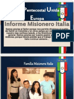Informe Misionero Italia