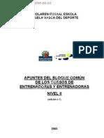 Bloque Comun de Nivel II de Los Cursos de Entrenadores-As C-1 \ www.edpformacion.co.cc