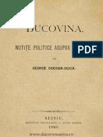 Bucovina Notite Din 1895 .PDF