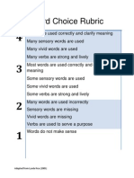 Word Choice Rubric