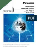 Manual de Usuario Central Pura Ip Panasonic KX-TDE100 KX-TDE200