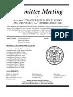 Transcript January 9 2013 NJ Public Works Hearing Re Bridgegate