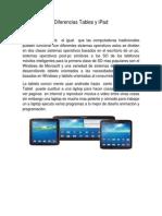 Diferencias Tables y iPad