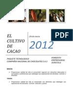 Paquete Tecnologico Cacao Cnch Enero 2012