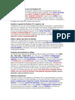 Resumo Das Dicas Para Windows Xp