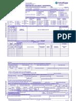 Formulario Unico Inscripcion y Novedades Saludcoop