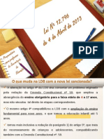 Alterações na LDB (12.796-13)