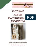 Scrapbookpasion Tutorial Album Encuadernado Escondido