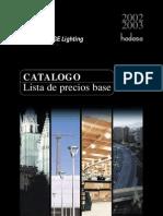 Tarifa Catalogo