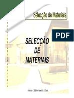 ACETATOS TM 31 Seleccao Dos Materiais