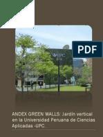 ANDEX GREEN WALLS JARDÍN VERTICAL EN LA UNIVERSIDAD PERUANA DE CIENCIAS APLICADAS - UPC