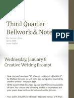 third quarter bellwork  notes