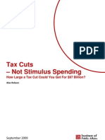 Tax cuts not Stimulus spending